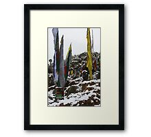 winter. indian himalaya Framed Print