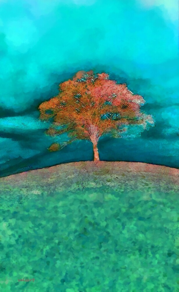 A solitary tree'... by Valerie Anne Kelly