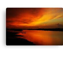 River Sunset in Sabah  Canvas Print