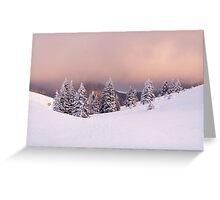 Purple snow Greeting Card