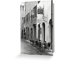 Bar Firenze Greeting Card