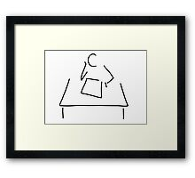 student schoolboys thinker learn Framed Print