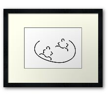 sumo fight Framed Print
