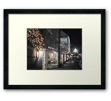 Princeton Streets Illuminated by night....    Framed Print