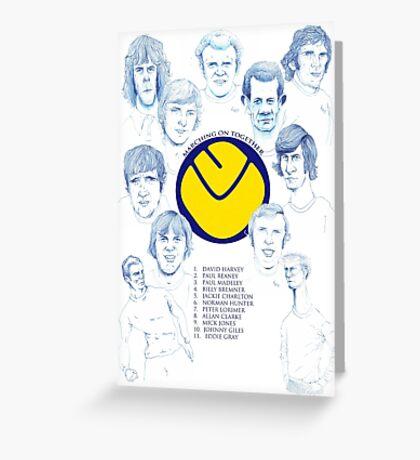 Leeds United FA Cup Greeting Card