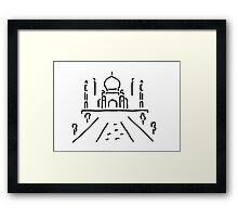 taj mahal India agra Framed Print