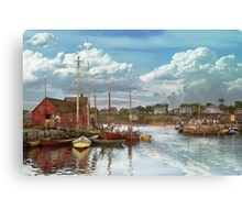 Boat - Rockport Mass - Motif Number One - 1906 Canvas Print