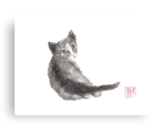 Innocent wonder sumi-e painting Canvas Print