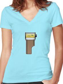 I love film Women's Fitted V-Neck T-Shirt