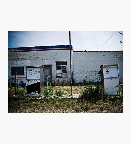 Gas Pumps Photographic Print