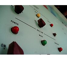 Knobs and Switches Photographic Print