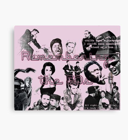 50s Collage Canvas Print