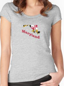 maryland state flag Women's Fitted Scoop T-Shirt