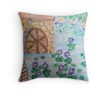Waterlily Mill Throw Pillow