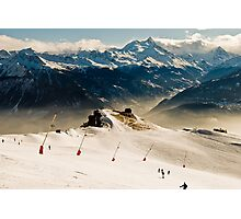 on the ski slopes Photographic Print