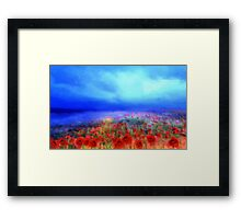Poppies in the mist'... Framed Print