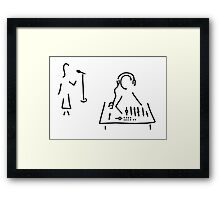 sound engineer studio admission mixing writing desk Framed Print
