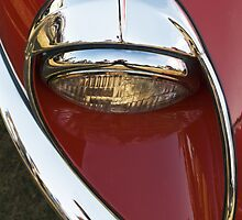 Red E Type Jaguar by Carol Saunders