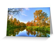autumn and lake Greeting Card