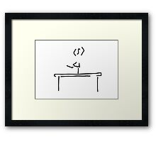 gym balance beam Framed Print