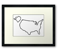 america USA map Framed Print