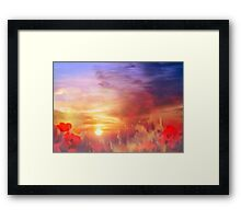 Landscape of dreaming Poppies'... Framed Print