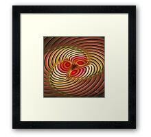 'Light Flame Abstract 254' Framed Print