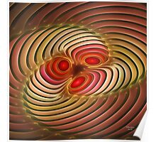 'Light Flame Abstract 254' Poster