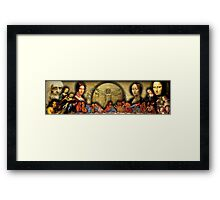 Da Vinci Collage Framed Print