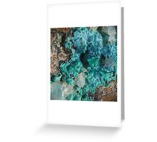 Botryoidal Chrysocolla with Malachite Greeting Card