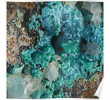 Botryoidal Chrysocolla with Malachite Poster
