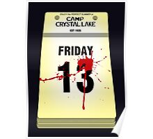 Crystal Lake Calendar Poster