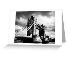 Moody Tower Bridge in London Greeting Card