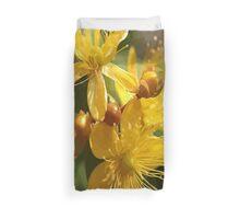Turkish St Johns Wort Wild Flower Vector Image Duvet Cover