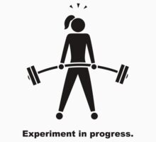 Experiment In Progress - Weightlifting Kids Tee