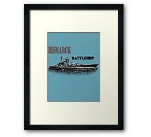 Battleship Bismarck Framed Print
