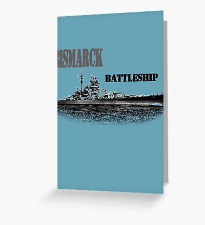 Battleship Bismarck Greeting Card