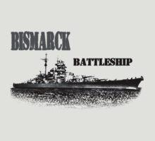 Battleship Bismarck by hottehue