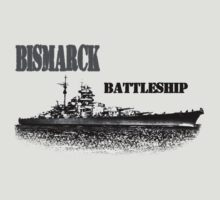 Battleship Bismarck by hottehue