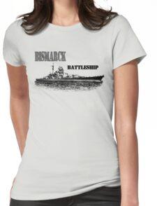 Battleship Bismarck Womens Fitted T-Shirt