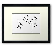 volleyball clench wet Framed Print