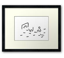 beach-ball gate wasserballer Framed Print