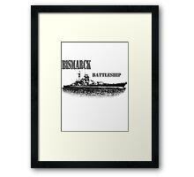 german Battleship Bismarck Framed Print