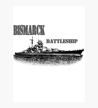 german Battleship Bismarck Photographic Print