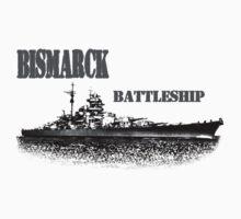 german Battleship Bismarck Kids Tee