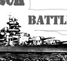 german Battleship Bismarck Sticker
