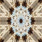 Brown & Blue Abstract by Carla Jensen
