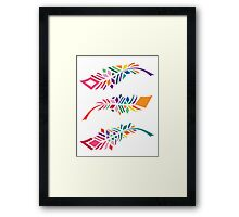 Stained Glass Feathers Framed Print