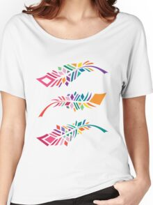 Stained Glass Feathers Women's Relaxed Fit T-Shirt