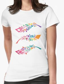Stained Glass Feathers Womens Fitted T-Shirt